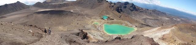 Parque Nacional Tongariro, Patrimonio de la Humanidad de la UNESCO, Lagunas