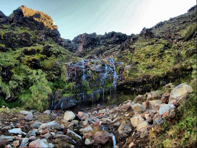 Parque Nacional Tongariro, Patrimonio de la Humanidad de la UNESCO, Soda Springs