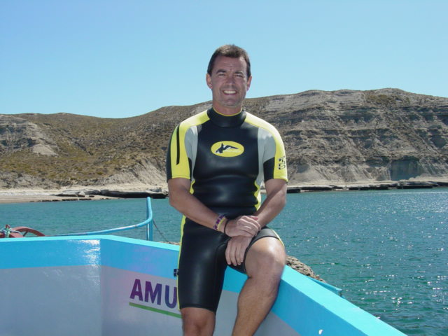 En Peninsula Valdés, Argentina, a punto de nadar con lobos marinos