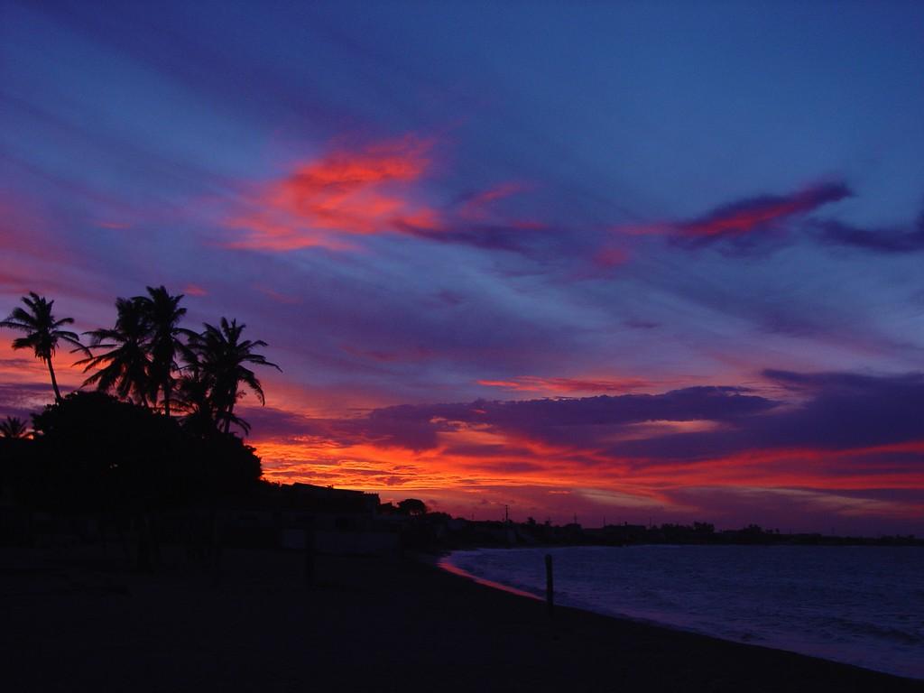 Puesta de sol en Adicora, Venezuela