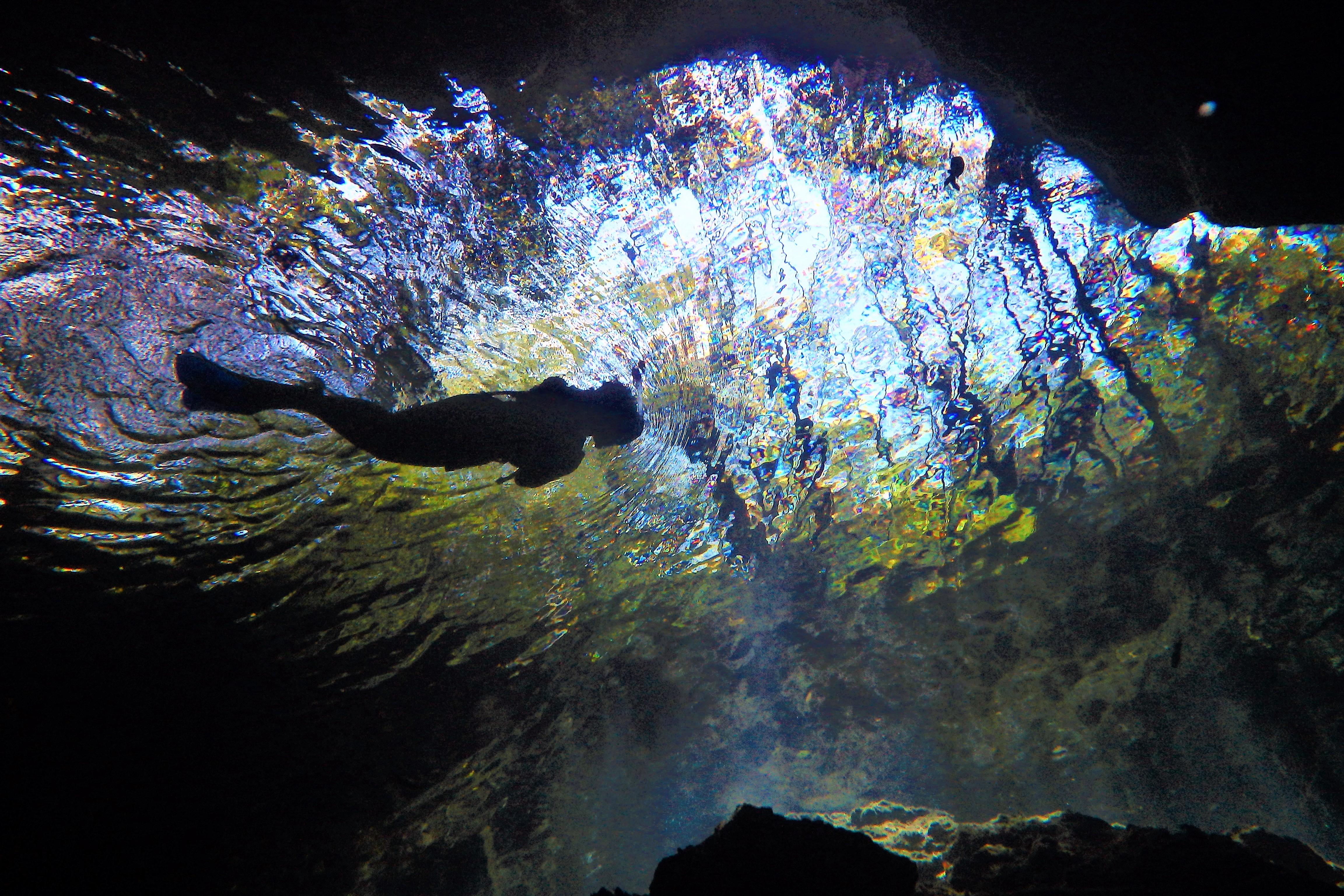 P3080102 Buceo con Bahia Divers en sistema de cenotes Chac Mool y Kukulcan